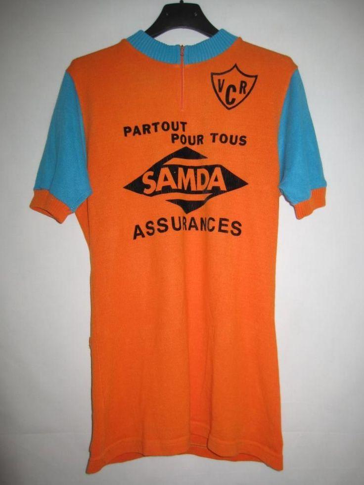 Maillot Cycliste Vintage Samda Assurances VCR Orange 70'S Ancien Rare M | eBay
