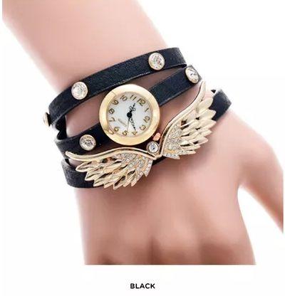 [쥬얼리시계]Women's Watch with Angel Wing Charm
