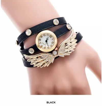 [쥬얼리시계]Women's Watch with Angel Wing Charm