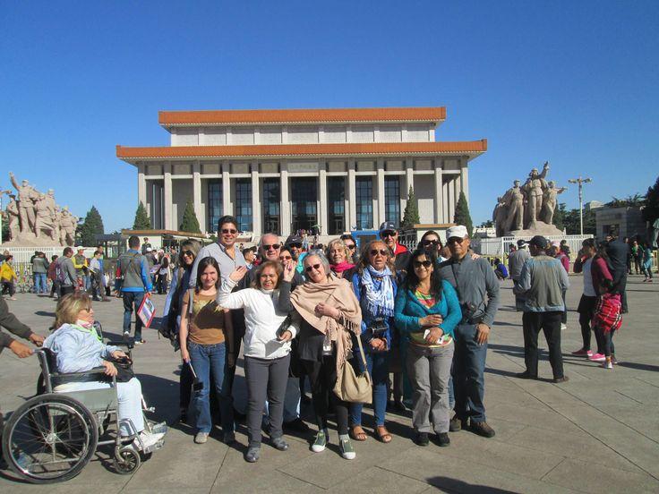 Fotografía: Susana Cresci con su grupo en Beijing 2015
