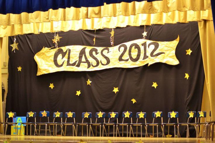 preschool star graduation stage | Preschool Graduation ...