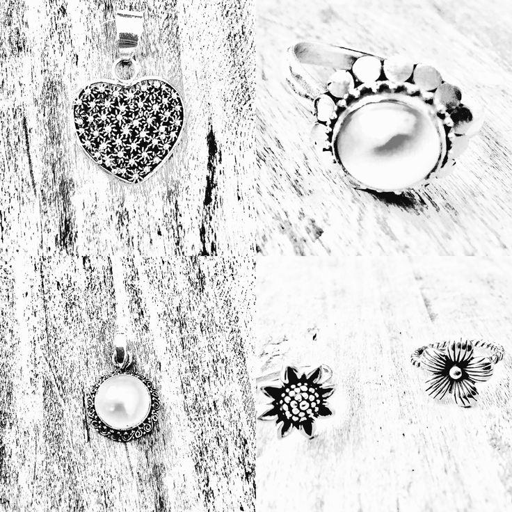 Silver rings and pendants #greenmangoimports