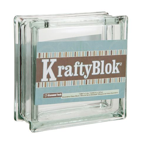 Clear Glass Kraft Block 7 27 Glass Blocks Decorative Glass