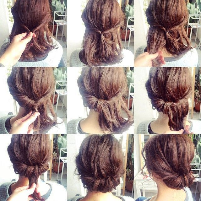 Low Bun Medium Hair Cute Easy Updos For Short Hair With Images