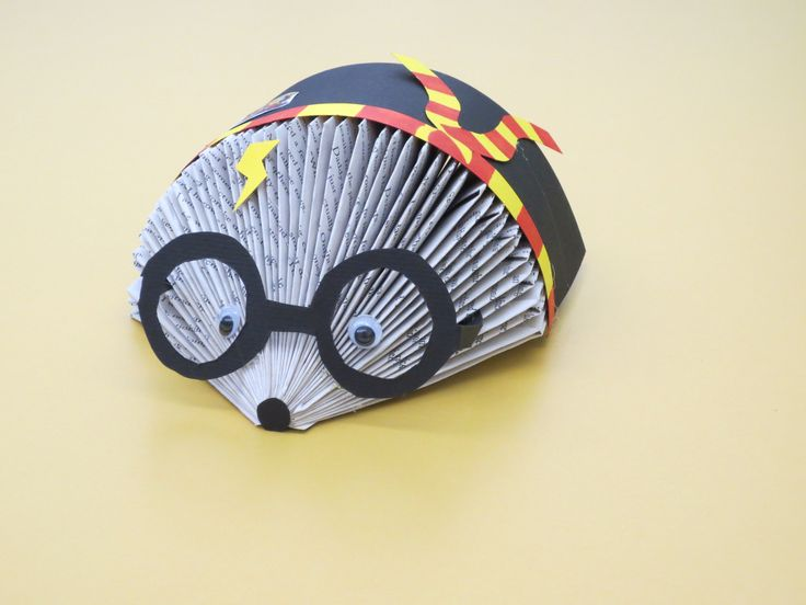 How To Make A Book Hedgehog : Harry potter book hedgehog etsy shop iamgeektastic