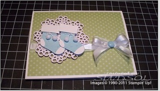 one more card made with stampin up Stocking builder punch