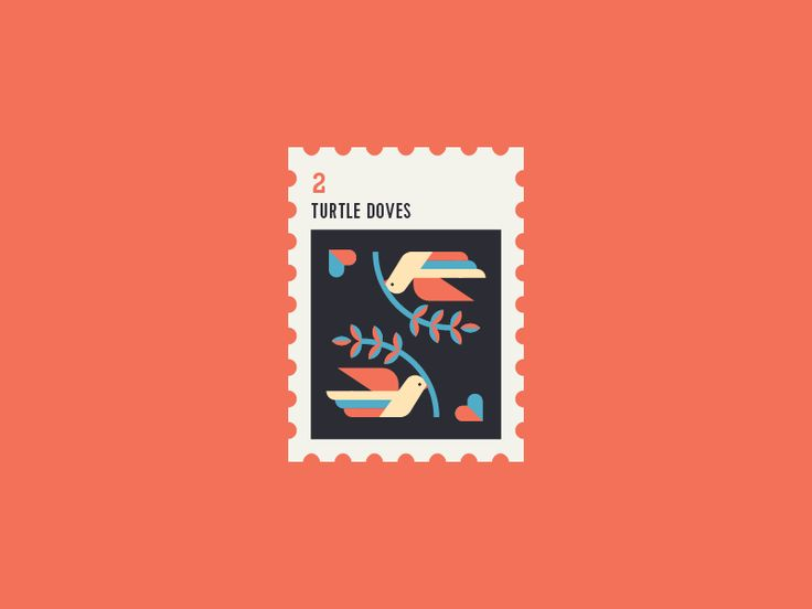 12 Days of Christmas Stamp #2 by Yiwen Lu