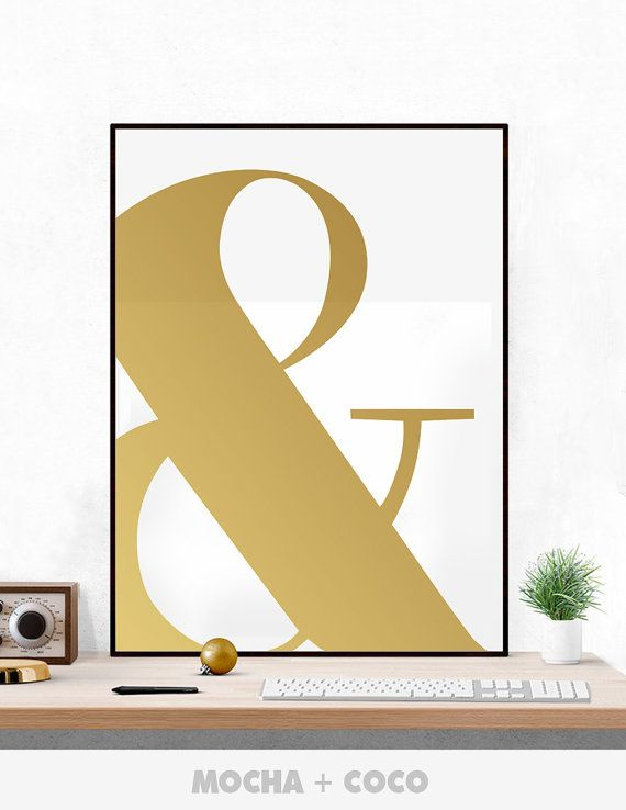 And Symbol Poster, Typography & Wall Art, Awesome Office Wall Decor, Meeting Room, Printable Mocha + Coco, INSTANT DOWNLOAD