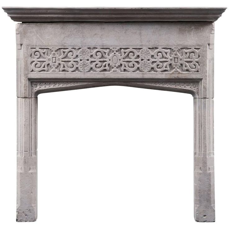 17th Century English Jacobean Portland Stone Antique Fireplace Mantel | From a unique collection of antique and modern fireplaces and mantels at https://www.1stdibs.com/furniture/building-garden/fireplaces-mantels/