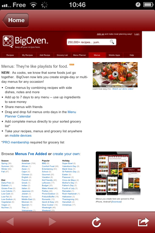 big oven iphone ipad android android tablet kindle fire nook