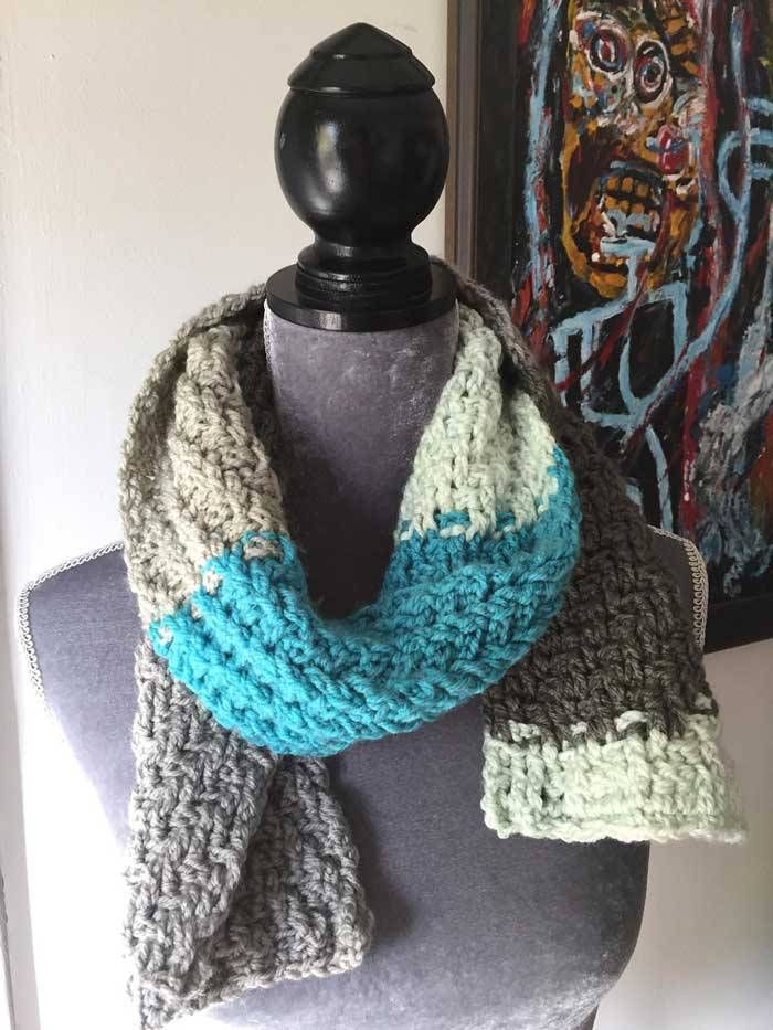 Woven Scarf By Mikey Caron Cakes Patterns Pinterest