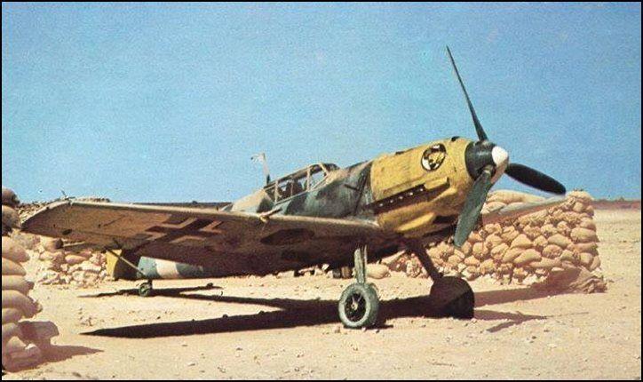 Messerschmitt Bf 109E-7 of I./JG 27 - Libya 1941.: German Luftwaffe, 2Ènd Ww, Flying, Bf 109, Me109, Desert War, Airplane Models, E7 Libya, Aviator