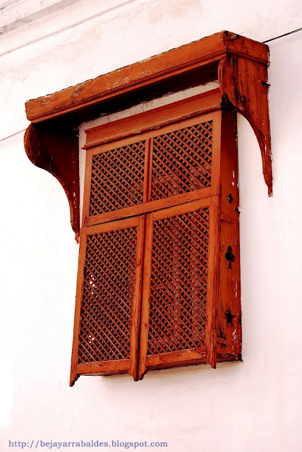 Traditional window in Beja, Portugal