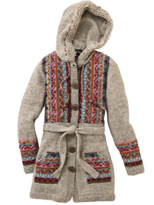 Sweater Dress With Hood