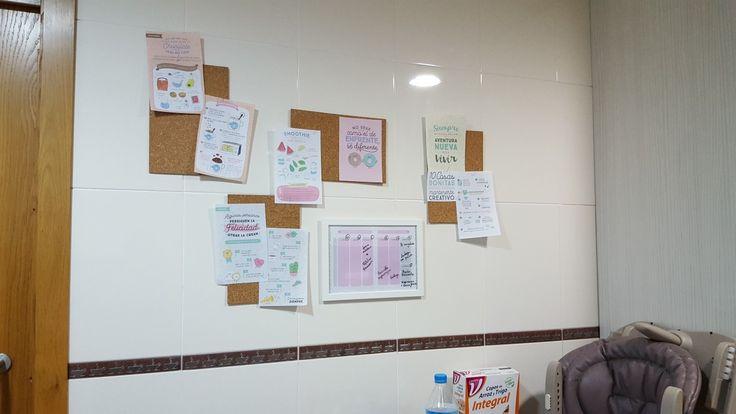 tablero de notas para la cocina reciclando la agenda de mr wonderfull