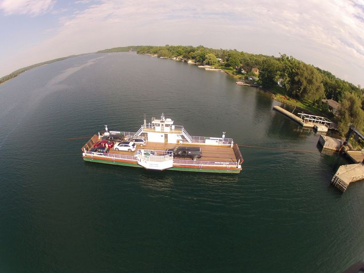 Ferry carries 15 cars and runs on demand, 24 hours a day, 365 days a year