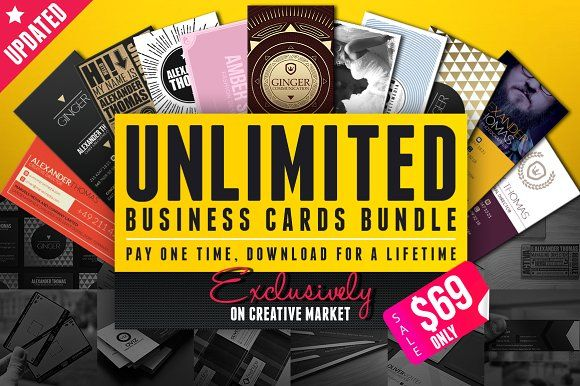 Unlimited Business Cards Bundle by Marvel on @creativemarket
