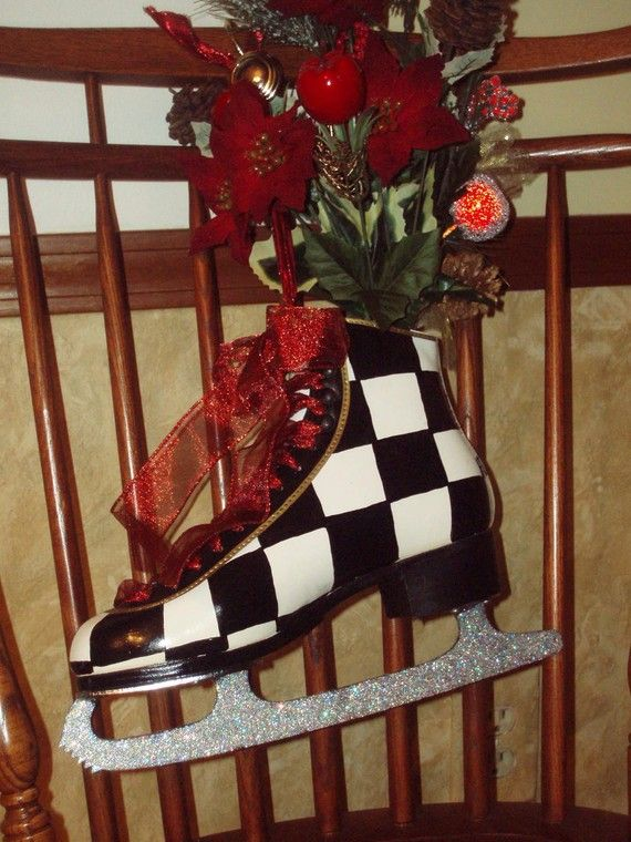 Hand Painted Ice Skates Figure Skates by MicheleSpragueDesign