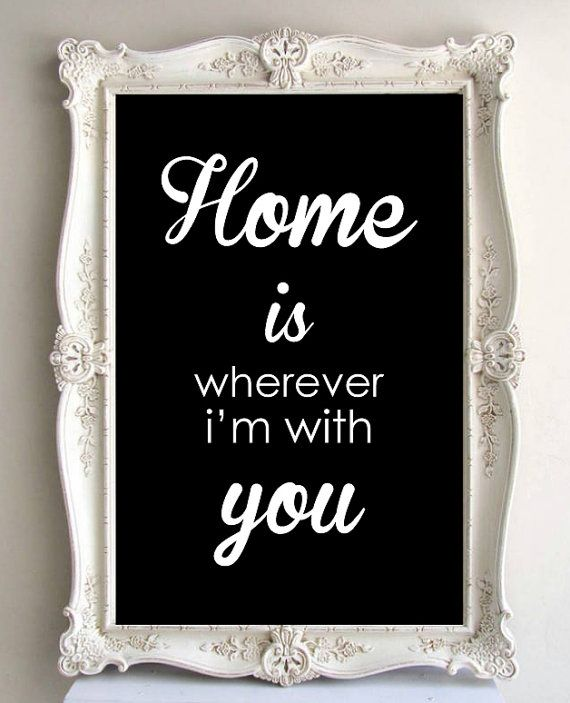 Home is Wherever I'm with you  Typography Art by LoveSignBoutique, $26.00