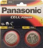 CR2032 Battery (2 pack) - Panasonic, Lithium Coin Cell, 3V