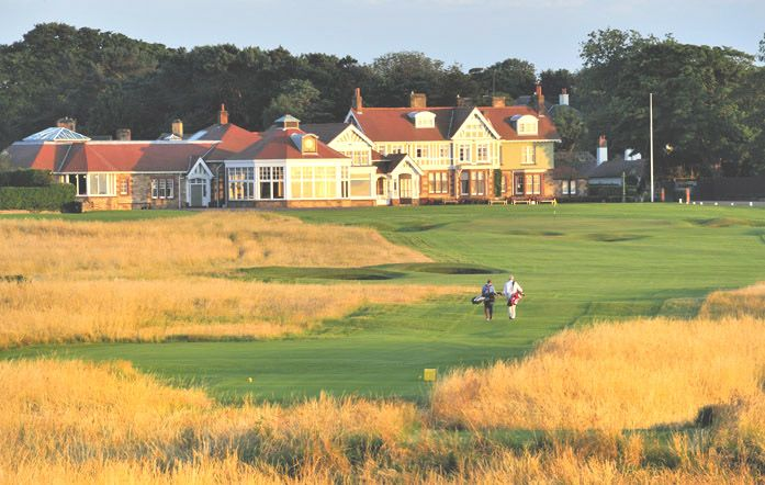 Golf course in Scotland, Muirfield. Golfbaan in Schotland.