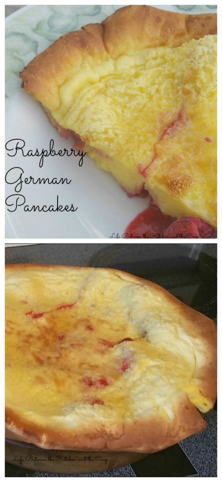 I am about to introduce you to one of my husbands delicious breakfast creations.  Raspberry German Pancakes.  They are so yummy!  Awesome german pancakes with a hint of raspberry!  CLICK THROUGH TO THE POST!  You do NOT want to miss this recipe!  Get the