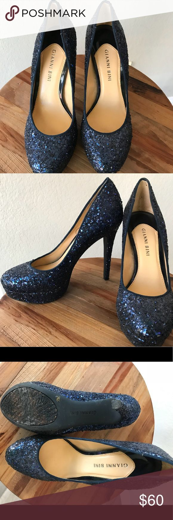 Gianni Bini Very cute sparkly Gianni Bini heels. Worn once for a birthday party outing. Walked on a little bit of gravel. Size 7. Please feel free to ask any questions. Thank you. Gianni Bini Shoes Heels