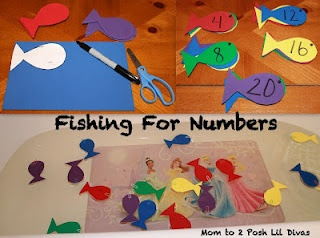 Pre-K & K Seuss Math w/One Fish, Two Fish, Red Fish, Blue Fish from Mom to 2 Posh Lil Divas