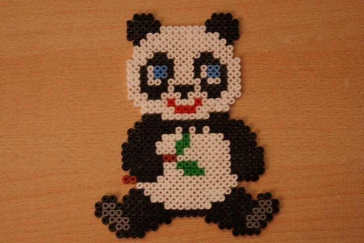 Panda hama perler by coup-mouss