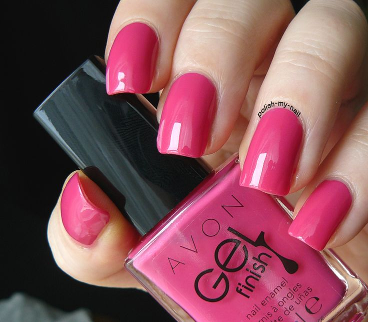 Avon Pink Nail Polish: Avon Gel Finish Parfait Pink. #Avon #nails #pink