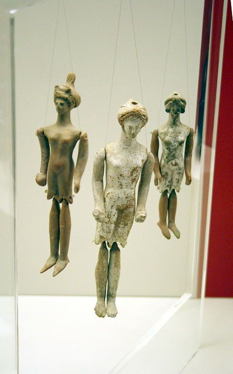 Ancient Greek terracotta puppet dolls, 5th/4th cent. BC, National Archaeological Museum, Athens