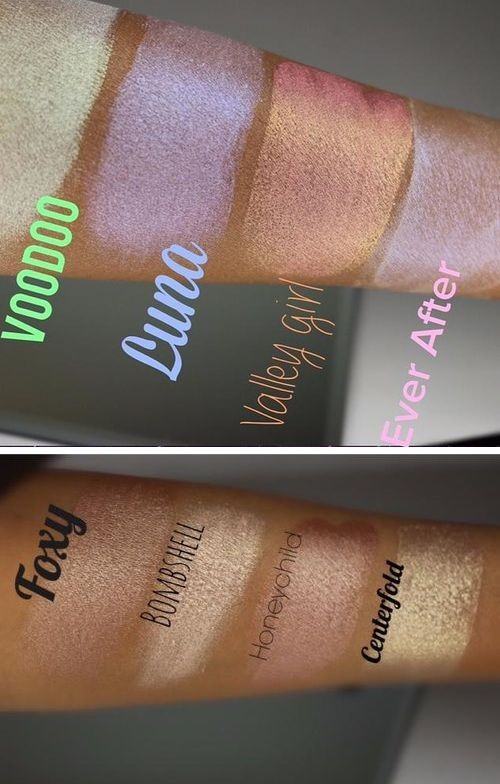 Cosmetics And Makeup: Looxi Beauty Cosmetics Highlighter Swatches