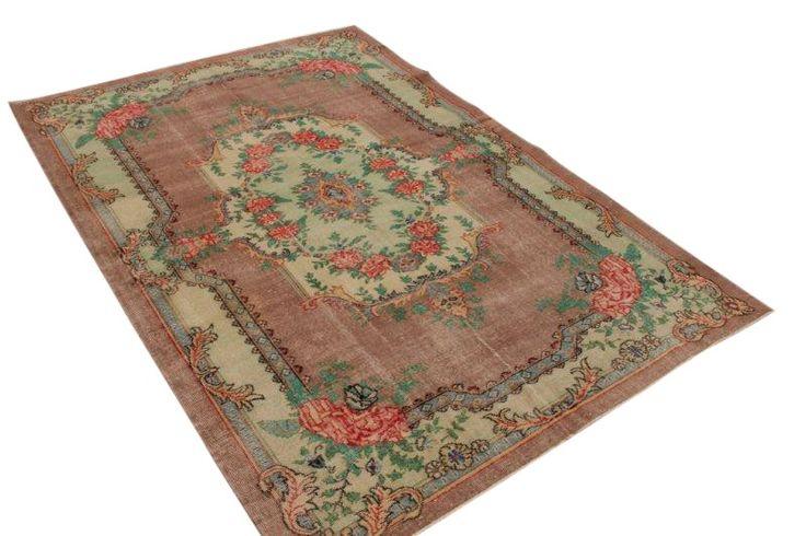 Pastel vintage vloerkleed 295cm x 199cm   Rozenkelim.nl - Groot assortiment kelim tapijten