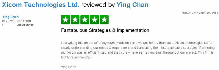 Check out the review posted by Mr Ying Chan here http://www.trustpilot.com/review/www.xicom.biz/52cf9e3200006400026fa406