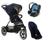 Phil and Teds Navigator Set   Double Kit   Cybex Aton 4 midnight blue - Collection 2015