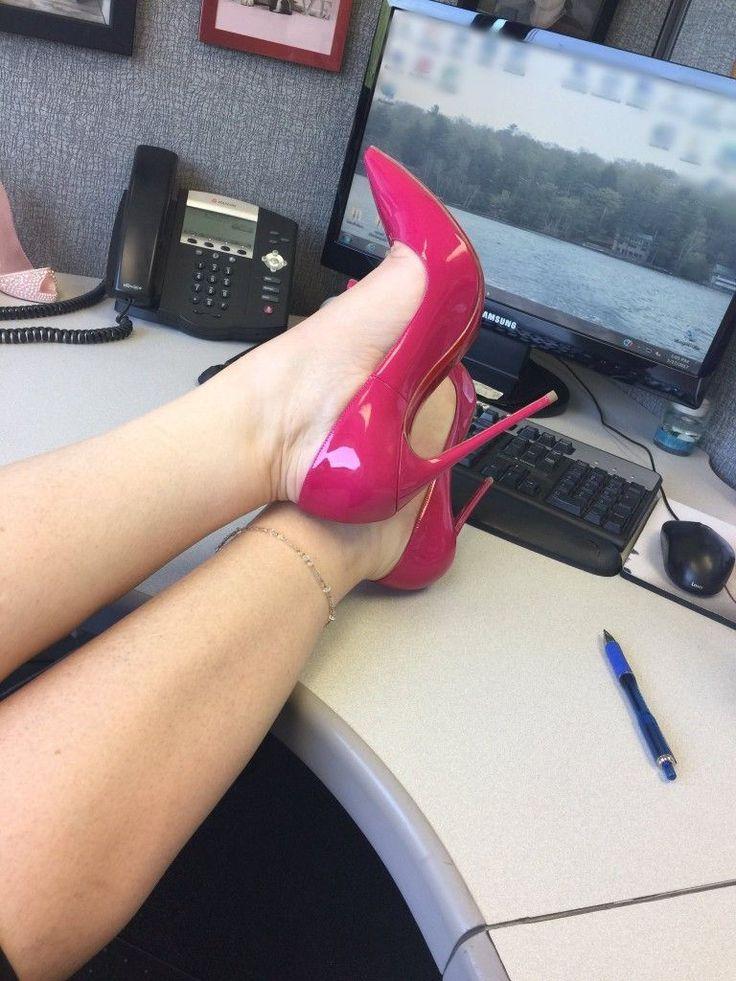 """""""Cerise"""" Pink heels #hothighheelsoffices #hothighheelslegs"""