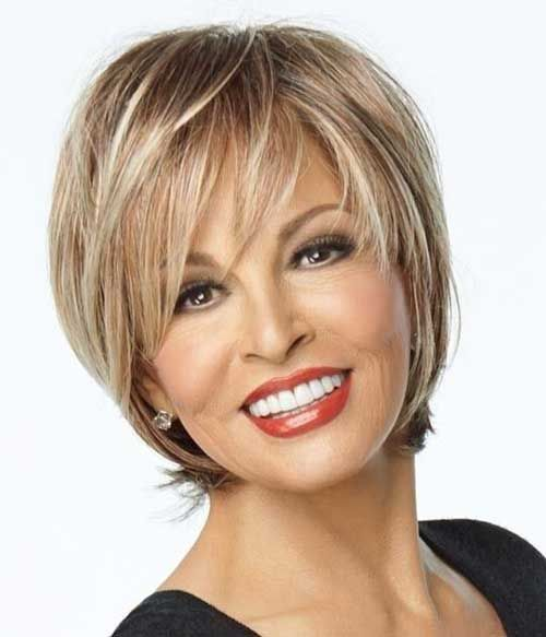 24.Short Haircut For Older Ladies
