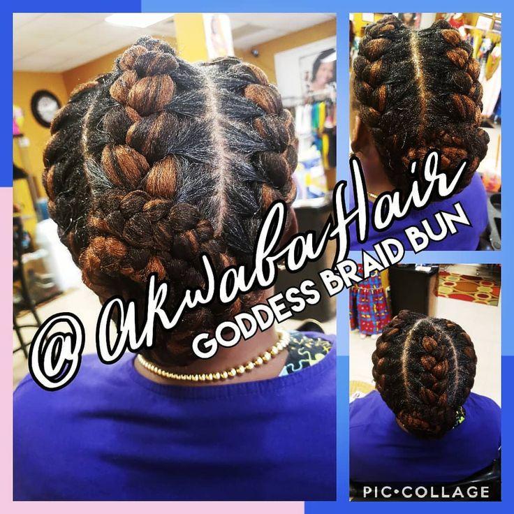 GODDESS BRAIDS! #goddessbraids #braids #goddess 💛   – Tip