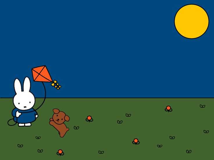 miffy and snuffy wallpaper