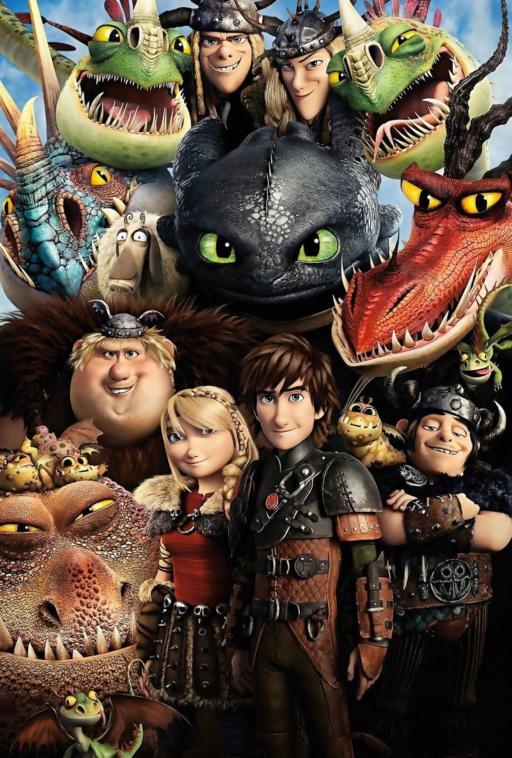 NEW HOW TO TRAIN YOUR DRAGON 2 MOVIE CHARACTERS WALL ART PRINT - PREMIUM POSTER | eBay