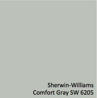 Sherwin-Williams Comfort Gray SW 6205 - 3 walls of Gray's room are painted this soothing greenish gray
