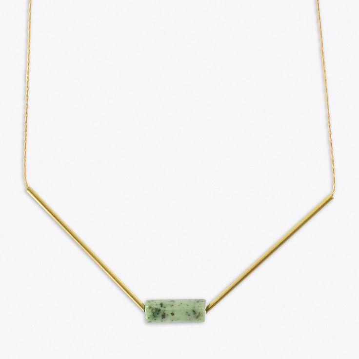 Minimal Mint Marble Necklace By TALVIKKI - Fy