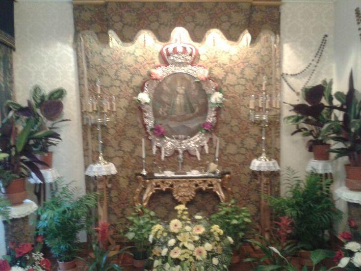 Cuadro de la Virgen  del Collado en la nueva Mayordomía