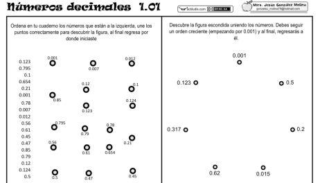 Ordenar números decimales