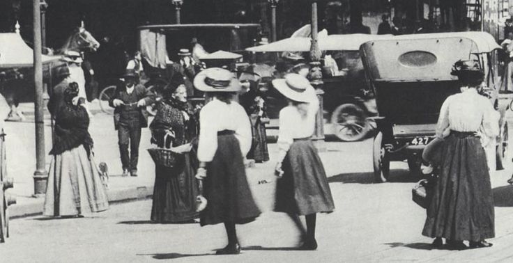 Vintage Melbourne, Australia.  Swanston St., City.  (possibly turn of the century)?