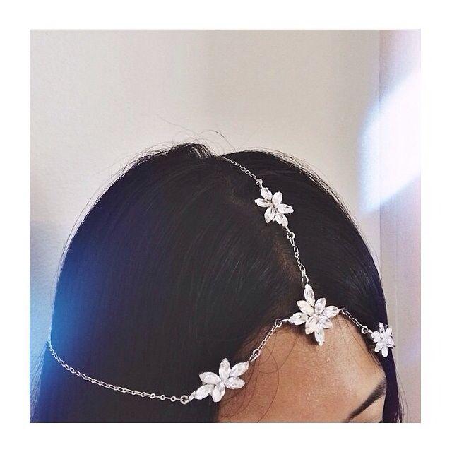 Balyck Trinity head piece close Up #headpiece #swarovski #jewellery #designs