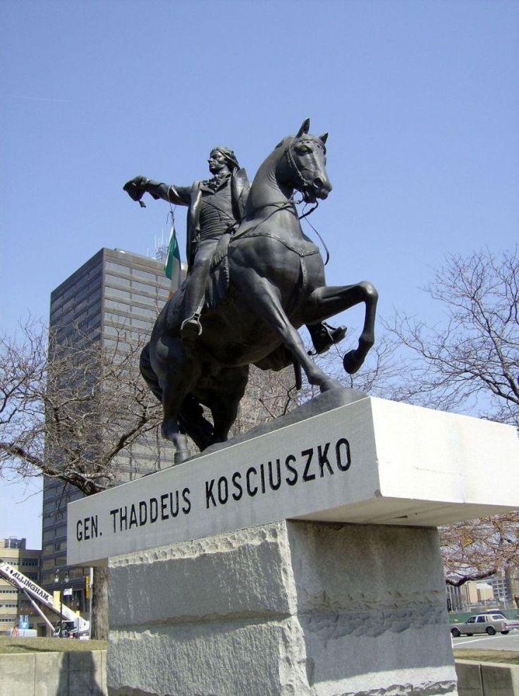 kosciuszko tadeusz | Pomnik w Detroit - kopia posągi wawelskiego, wykonanego przez ...