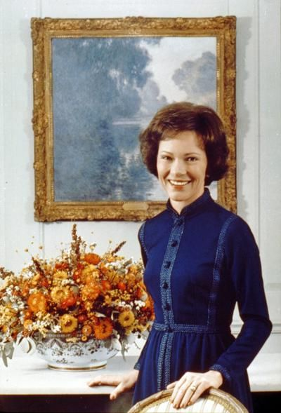 39. Rosalynn Carter | A deeply-involved first lady who would sometimes sit in on her husband's Cabinet meetings, Rosalynn was the first first lady to have her own office in the East Wing of the White House.