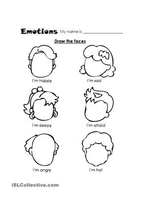 Pin by Seadi Jamal on Expression and Feeling Worksheet