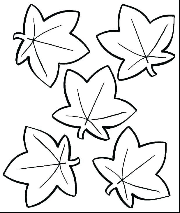 printable leaves coloring pages